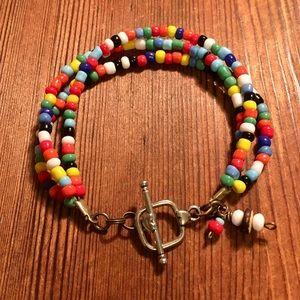 Ladies Multi Color Beaded Bracelet